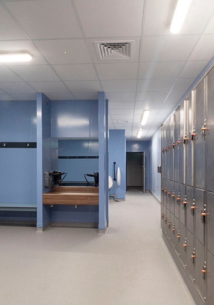 Dungannon Lesiure Centre Refurbishment Works changing