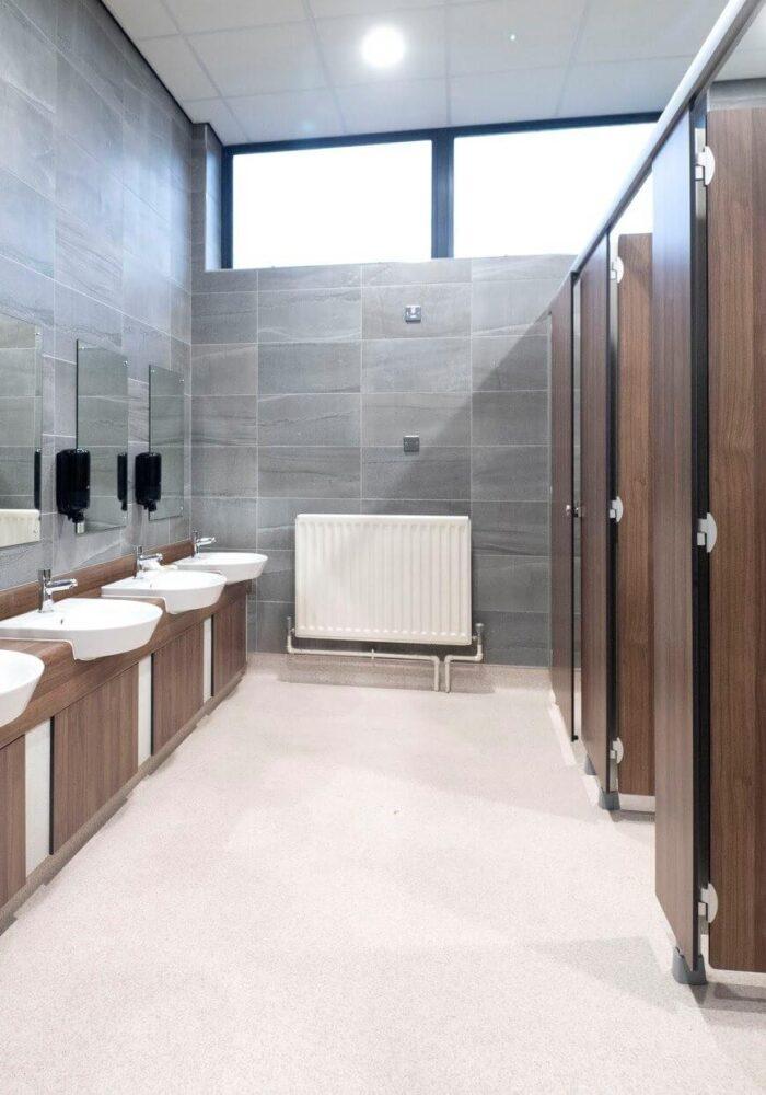 Dungannon Lesiure Centre Refurbishment Works toilets